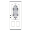 ReliaBilt 33-1/2-in x 81-3/4-in Oval Lite Inswing Steel Entry Door