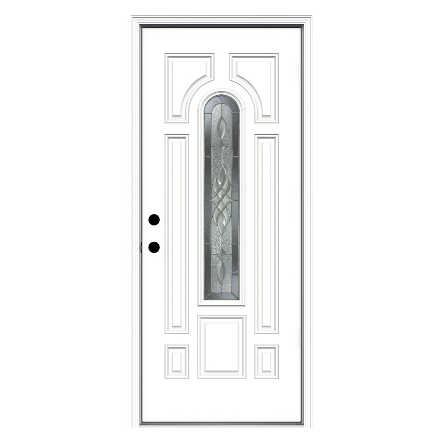 Shop reliabilt 33 5 in x center arch lite prehung for Lowes metal doors