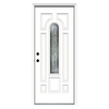 ReliaBilt 33-1/2-in x 81-3/4-in Center Arch Lite Inswing Steel Entry Door