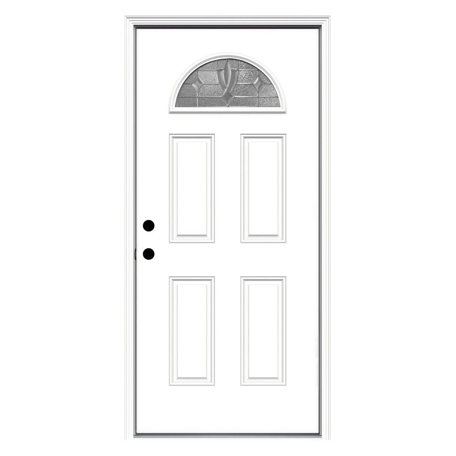 Shop reliabilt fan lite prehung inswing steel entry door for Lowes steel doors