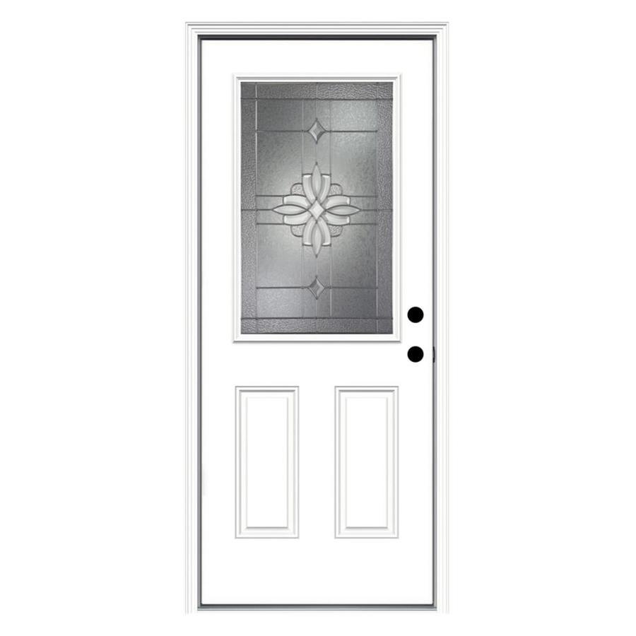 Half lite texas star steel prehung double door unit 40 hd for Prehung exterior door