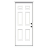 ReliaBilt 33-1/2-in x 81-3/4-in 6-Panel Inswing Steel Entry Door