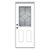 ReliaBilt 33-1/2-in x 81-3/4-in Half Lite Inswing Steel Entry Door