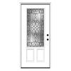ReliaBilt Wyngate 1-Panel Insulating Core 3/4 Lite Left-Hand Inswing Primed Steel Prehung Entry Door (Common: 36-in x 80-in; Actual: 37.5-in x 81.75-in)