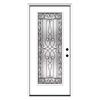ReliaBilt Wyngate 1-Panel Insulating Core Full Lite Left-Hand Inswing Primed Steel Prehung Entry Door (Common: 36-in x 80-in; Actual: 37.5-in x 81.75-in)
