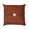 18-in W x 18-in L Umber Square Indoor Decorative Complete Pillow