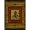 United Weavers Of America Genesis Brown Rectangular Indoor Woven Southwestern Area Rug (Common: 5 x 8; Actual: 63-in W x 86-in L)