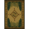 United Weavers Of America Genesis Brown Rectangular Indoor Woven Lodge Area Rug (Common: 5 x 8; Actual: 63-in W x 86-in L)