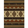 United Weavers Of America China Garden Brown Rectangular Indoor Woven Southwestern Area Rug (Common: 5 x 7; Actual: 63-in W x 86-in L)