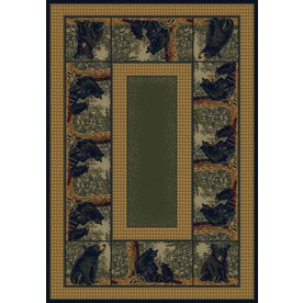 United Weavers Of America Hautman Brown Rectangular Indoor Woven Lodge Area Rug (Common: 8 x 10; Actual: 94-in W x 126-in L)
