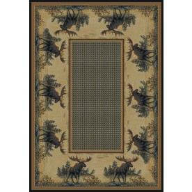 United Weavers Of America Hautman 7-ft 10-in x 10-ft 6-in Rectangular Beige Border Area Rug