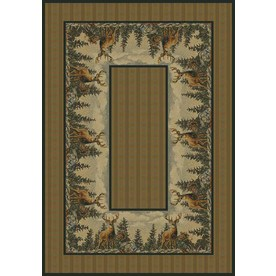 United Weavers Of America Hautman Multicolor Rectangular Indoor Woven Lodge Area Rug (Common: 8 x 10; Actual: 94-in W x 126-in L)