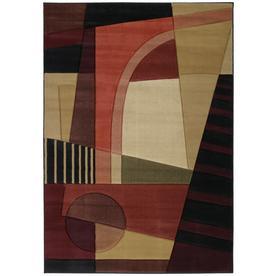 United Weavers Of America Contours Multicolor Rectangular Indoor Woven Area Rug (Common: 8 x 10; Actual: 94-in W x 126-in L)