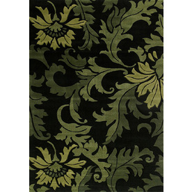 United Weavers Of America Contours 5-ft 3-in x 7-ft 2-in Rectangular Green Transitional Area Rug