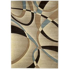 United Weavers Of America Contours 7-ft 10-in x 10-ft 6-in Rectangular Beige Geometric Area Rug