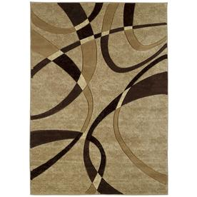 United Weavers Of America Contours 5-ft 3-in x 7-ft 2-in Rectangular Tan Geometric Area Rug