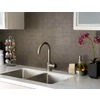 Prime Source 4-in Espresso Composite Kitchen Backsplash