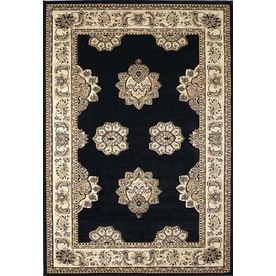 United Weavers Of America Contours 7-ft 10-in x 10-ft 6-in Rectangular Black Transitional Area Rug