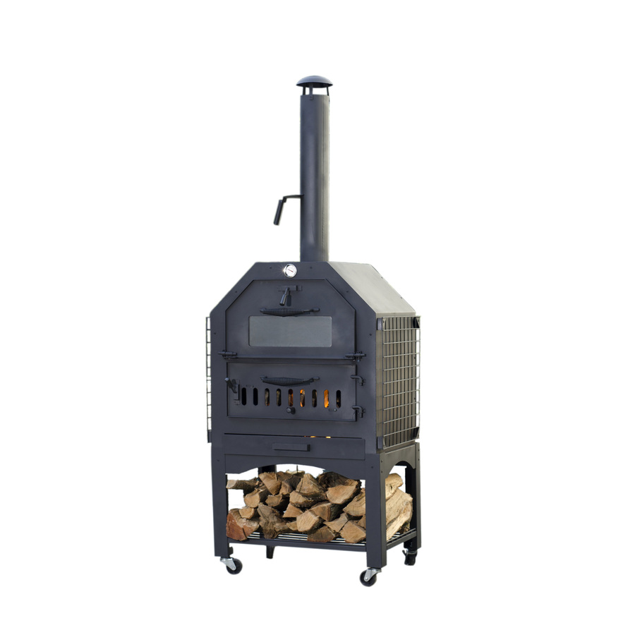 shop enforno wood fired pizza oven 82 5 in h x 29 7 in w. Black Bedroom Furniture Sets. Home Design Ideas