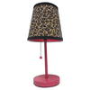 LimeLights 15-in Pink Indoor Table Lamp with Fabric Shade