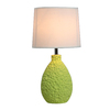 Simple Designs 14.17-in Green Indoor Table Lamp with Fabric Shade