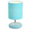 Simple Designs 10.24-in Blue Indoor Table Lamp with Fabric Shade