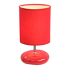 Simple Designs 10.24-in Red Indoor Table Lamp with Fabric Shade