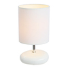 Simple Designs 10.24-in White Indoor Table Lamp with Fabric Shade
