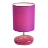 Simple Designs 10.24-in Purple Indoor Table Lamp with Fabric Shade