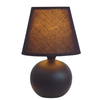 Simple Designs 8.66-in Black Indoor Table Lamp with Fabric Shade