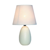 Simple Designs 9.45-in Off White Base Indoor Table Lamp with Fabric Shade