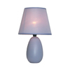 Simple Designs 9.45-in Purple Indoor Table Lamp with Fabric Shade