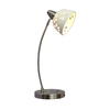Simple Designs 20.28-in Brushed Nickel Desk Lamp with Metal Shade
