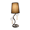 Simple Designs 18.5-in Black Indoor Table Lamp with Fabric Shade