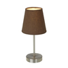 Simple Designs 11.42-in Sand Nickel Base Indoor Table Lamp with Fabric Shade