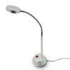 Simple Designs 11.73-in Adjustable Chrome LED Desk Lamp with Metal Shade
