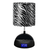LighTunes 16.54-in Black Desk Lamp with Plastic Shade