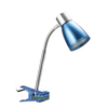 LimeLights 11.02-in Adjustable Blue LED Clip-On Desk Lamp with Plastic Shade