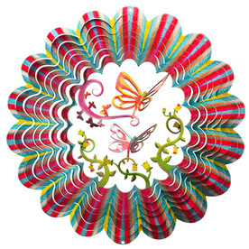 Iron Stop Butterfly Red Steel Wind Spinner