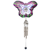 Iron Stop 23-in L Multicolor Butterfly Metal Wind Chime