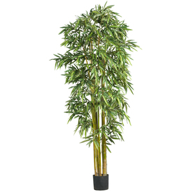 Nearly Natural 84-in Green Bamboo