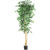 Nearly Natural 84-in Green Ficus Tree