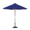 Lauren & Company Antique Beige Market Patio Umbrella (Common: 9-ft W x 9-ft L; Actual: 9-ft W x 9-ft L)