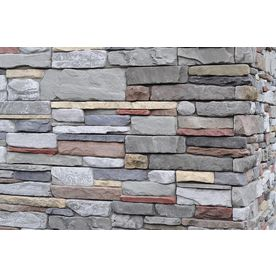 M-Rock 125 Sq. Ft. Gray Dry Stack Flat