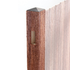 Woodshades 4-in x 4-in x 8-ft Redwood Composite Line Post
