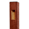 Woodshades 4-in x 4-in x 8-ft Redwood Composite End Post