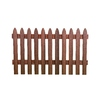 Woodshades 3-1/2 x 6 Redwood Woodgrain Gothic Composite Fence Panel