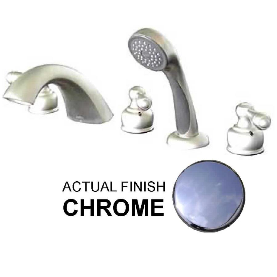 Shop Watertech Whirlpool Baths 5 Piece Chrome Tub Faucet At