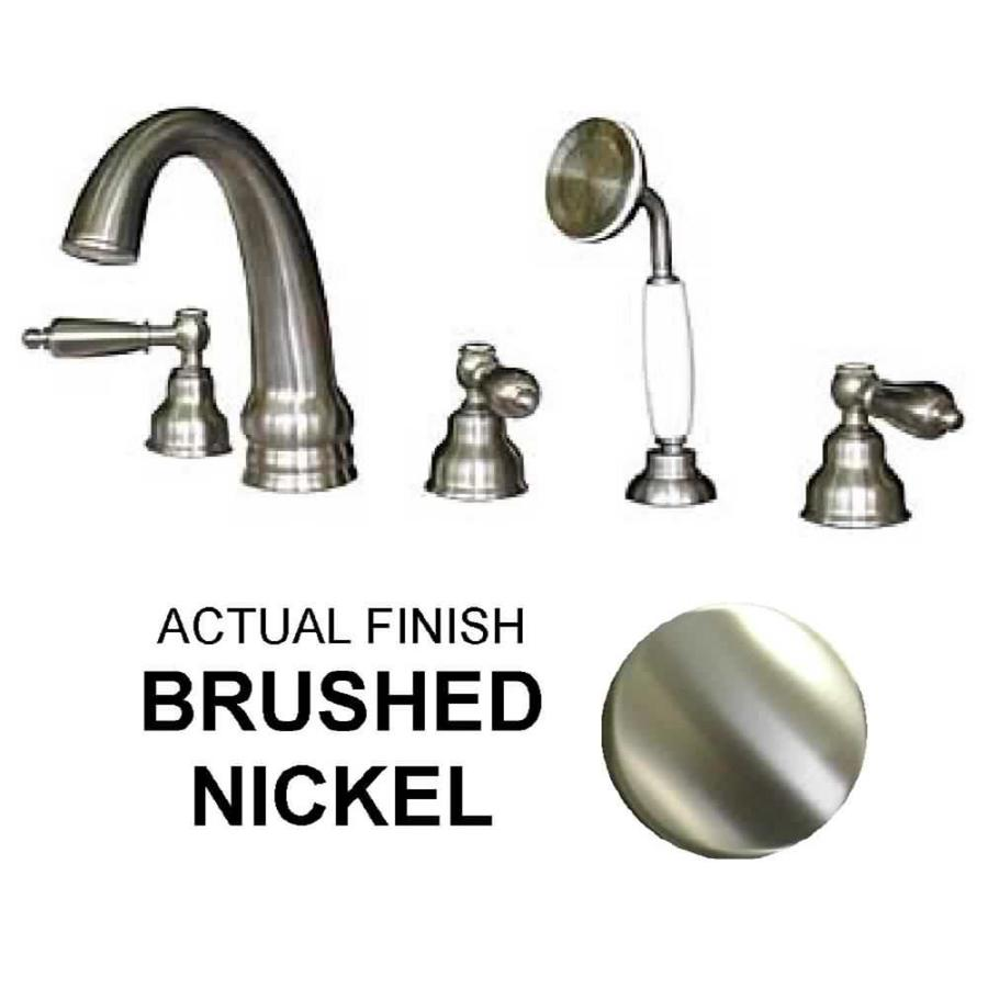 Shop Watertech Whirlpool Baths 5 Piece Brushed Nickel Roman Tub Faucet At