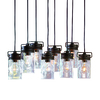 allen + roth Vallymede 7.77-in Aged Bronze Hardwired Standard Multi-Pendant Light with Clear Shade